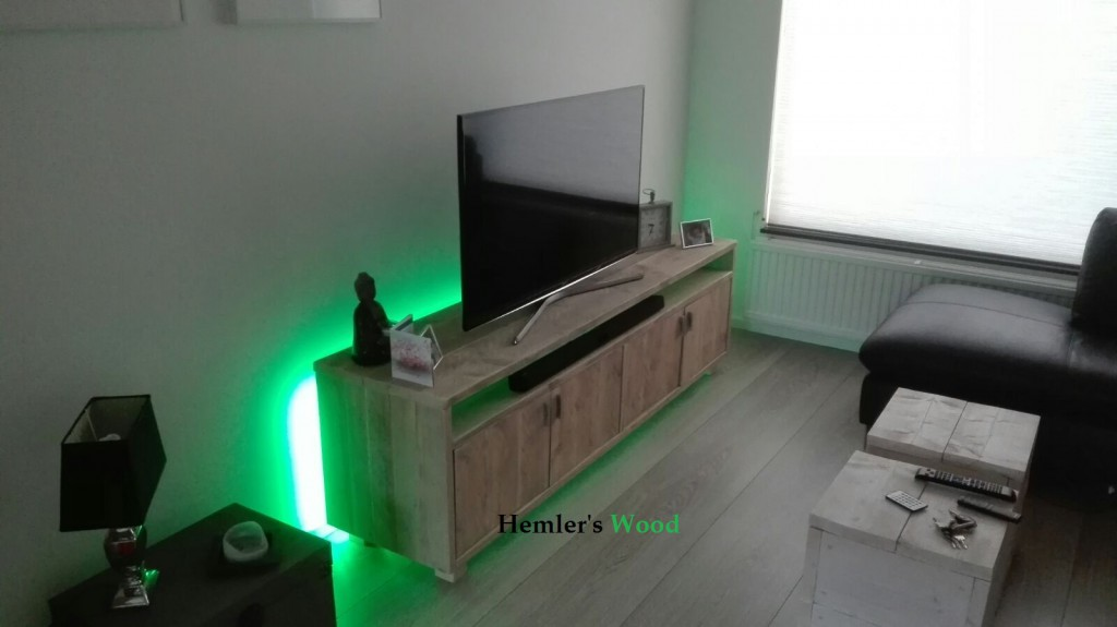 tv meubel met led